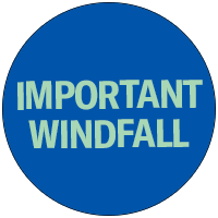 Important windfall