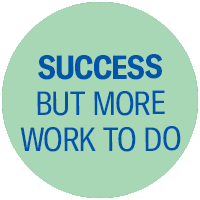 Success but more work to do
