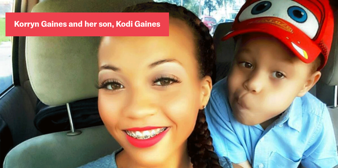 Korryn Gaines and her son, Kodi Gaines