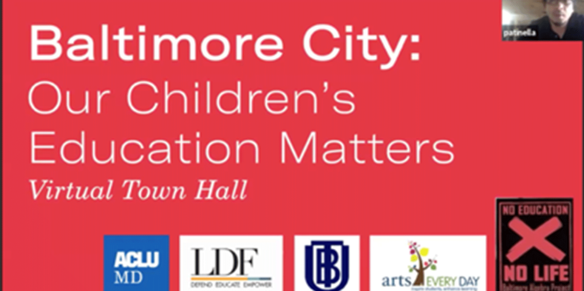 Bradford v. Maryland State Board of Education virtual town hall