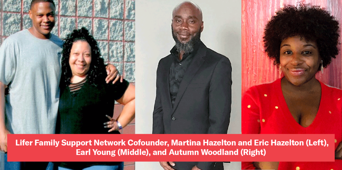 Lifer Family Support Network Cofounder, Martina Hazelton and Eric Hazelton (Left), Earl Young (Middle), and Autumn Woodland (Right)