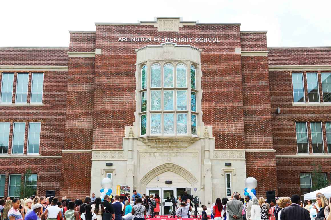 Arlington Elementary Middle School Baltimore City ribbon cutting
