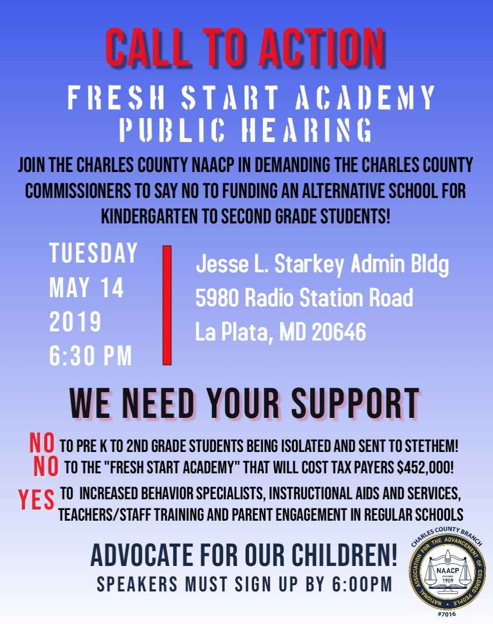 Call to Action - Fresh Start Academy Public Hearing