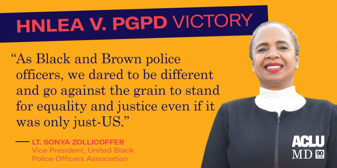 """Sonya Zollicoffer said: """"As Black and Brown police officers, we dared to be different and go against the grain to stand for equality and justice even if it was only just-US."""""""