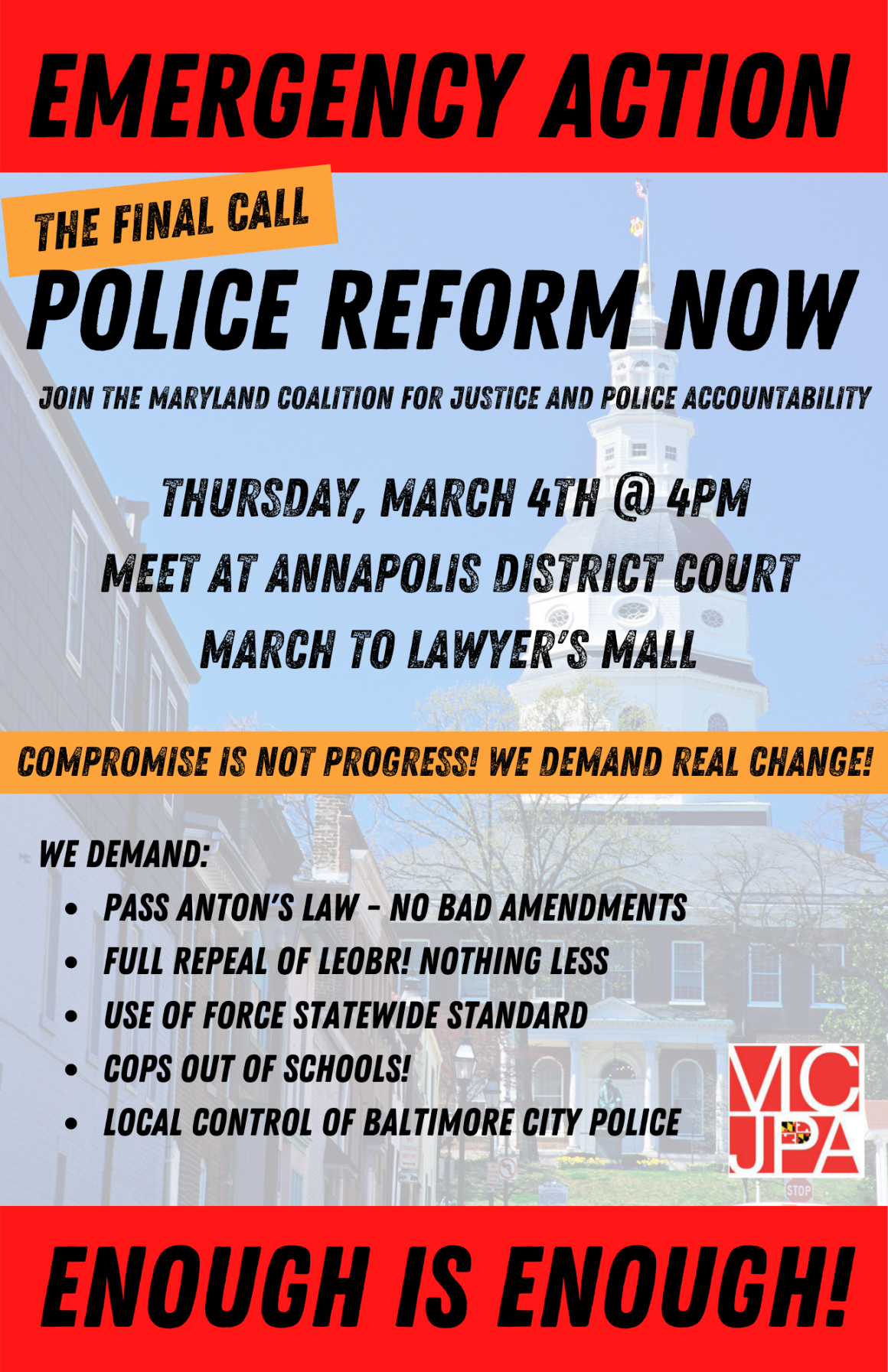 Emergency Action: Police Reform Now Rally