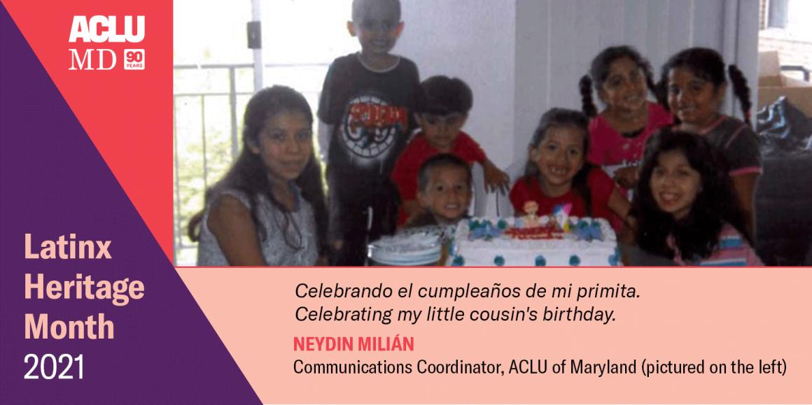 Neydin Milián. Celebrando el cumpleaños de mi primita. Celebrating my little cousin's birthday.