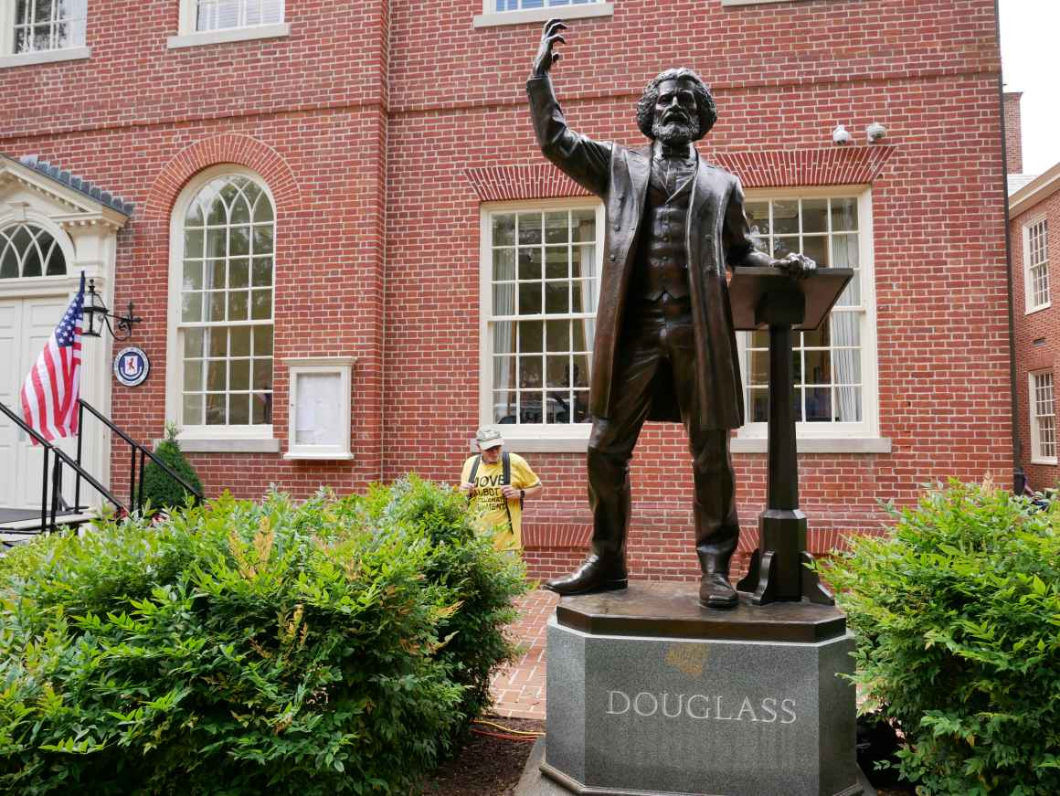 Frederick Douglass statue in Easton, Maryland.
