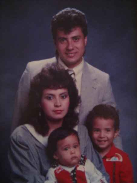 Sergio Espana with brother, mom, and dad