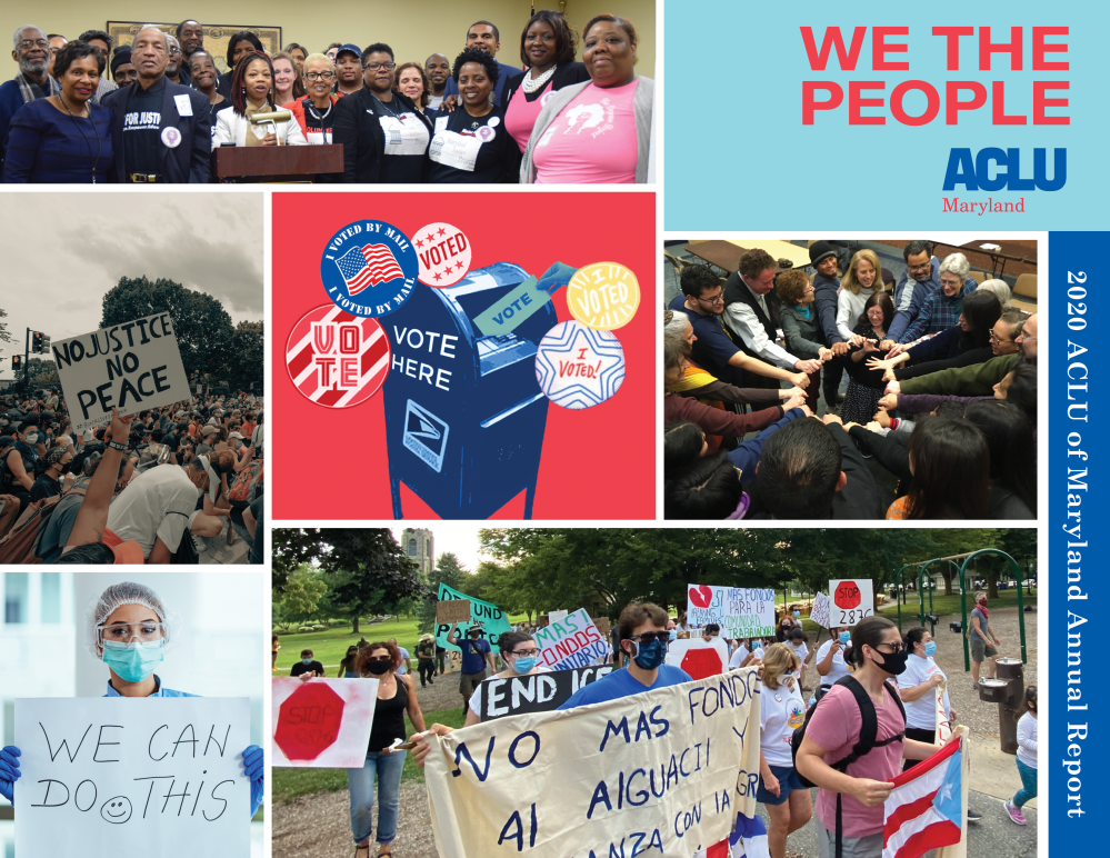ACLU of Maryland - 2020 Annual Report - Cover collage