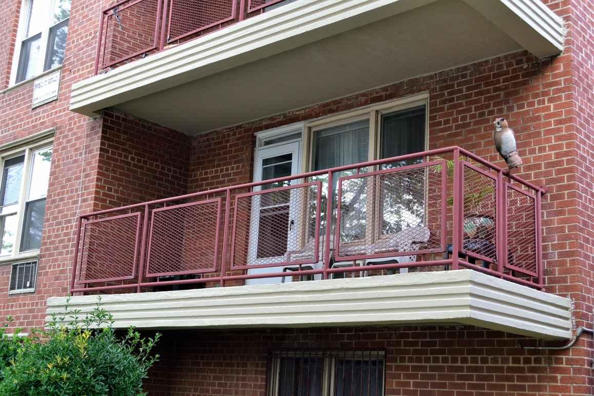 Apartment building balcony