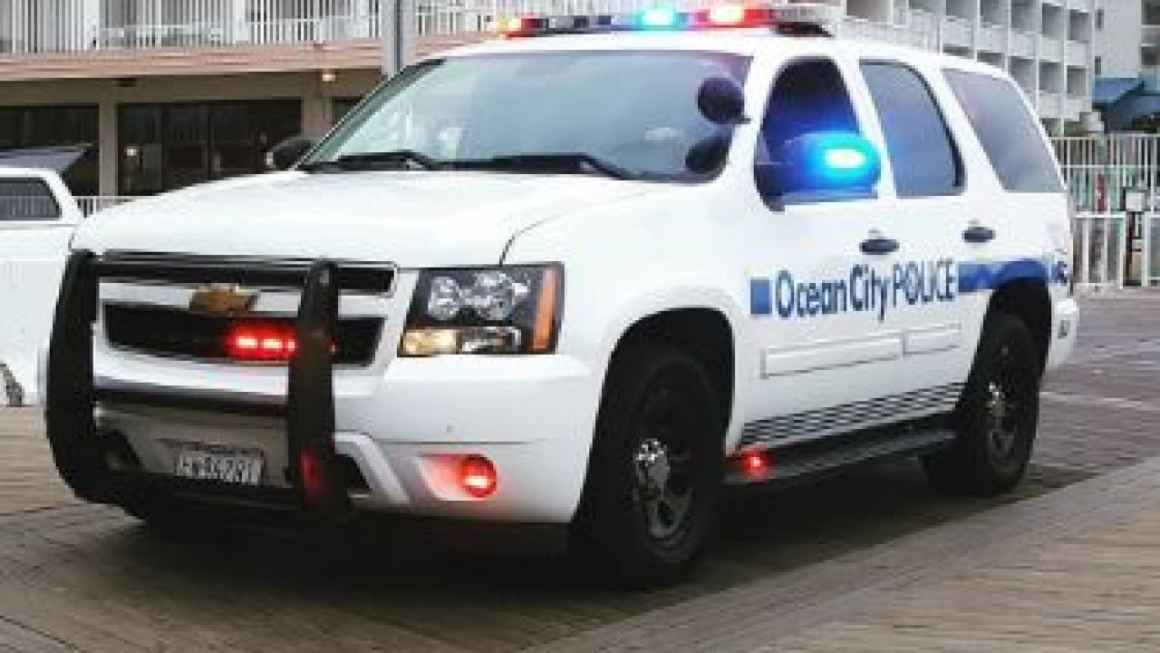 Ocean City Police Department car on the boardwalk. Photo by Ocean City Police Department